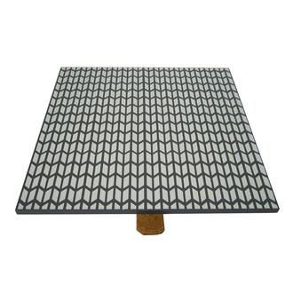 Couvercle réversible pour boite à bijoux en bois carré compartimenté caviar