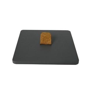 Couvercle pour boite à bijoux en bois carré caviar