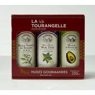 LA TOURANGELLE - trio d'huiles de Sésame, Avocat, Wok Thaï250ml