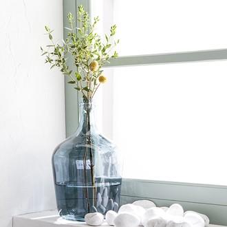Vase dame jeanne bleu Diego d18xh30cm