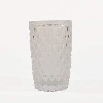 Choppe en verre, motif diamant transparent, 34cl