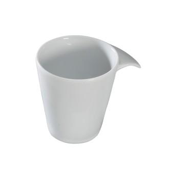 Tasse à thé pour l'assiette thé gourmand en porcelaine blanche, Flag 20cl