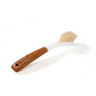Brosse à vaisselle triangulaire à tête remplaçable, manche en Bambou