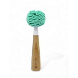 Brosse de nettoyage pour verres tête amovible
