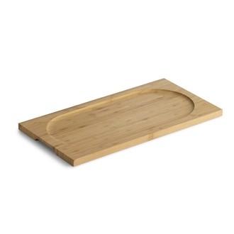 Planche à servir rectangulaire en bambou, 42x22cm
