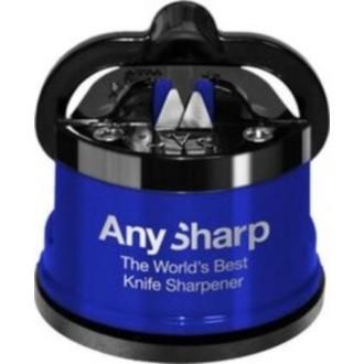 AnySharp Pro Metal - Aiguiseur professionnel bleu  Ventouse puissante et lames en carbure de tungstène