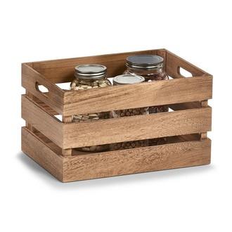 Caisse de rangement en bois vintage 35x25x20cm