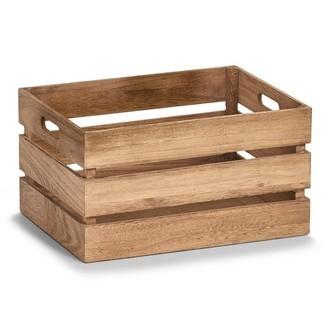 Caisse de rangement en bois vintage 39x29x21cm