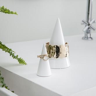 Stackers - boite à bijoux porte bracelet cone blanc peak