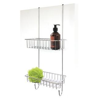 Serviteur de douche à suspendre en métal chromé Illico Overdoor 25x25x60cm