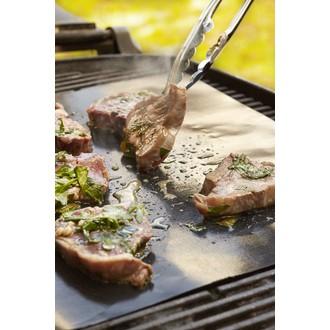 Feuille teflon pour cuisson barbecue noire 40x50cm