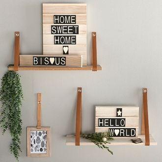 Woodbox a4 + 47 lettres