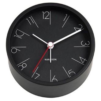 KARLSSON - Réveil élegant noir métal silencieux 5x11cm