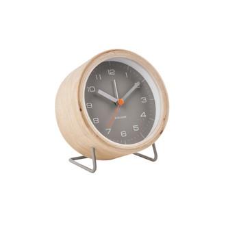 KARLSSON - Réveil innate bois et gris silencieux 10,5x6x12cm