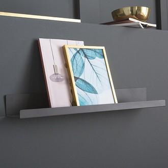 Etagère loft gris métal mat 49x8x5.5cm