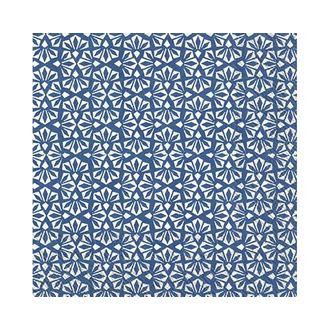 Paquet de 20 serviettes en papier décorées Loft blanc bleu 33x33
