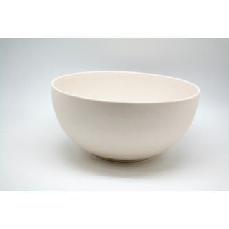 Saladier bambou 24,5x12 cm blanc