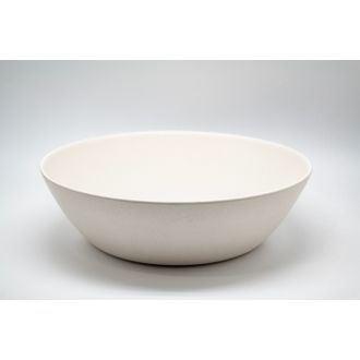 Saladier bambou 30,5x9 cm blanc