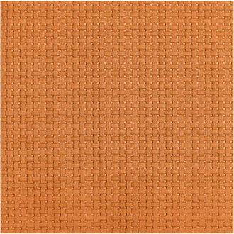 15 serv 33x33 cm linen gaufré orange