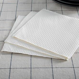 15 serv 33x33 cm linen gaufré beige clair