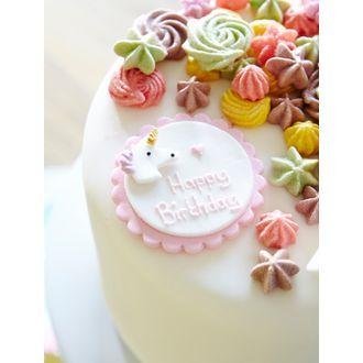 Décor en sucre licorne anniversaire