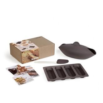 LEKUE - Kit pain Essentiel moule à pain, cuillère, mini-baguette