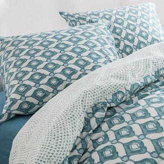 Zodio - taie d'oreiller carrée en coton imprimé paon teck 65x65cm