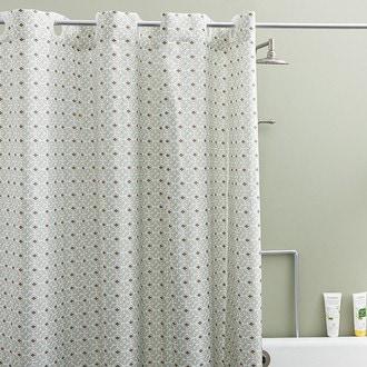 ZODIO - Rideau de douche 100% polyester Crépin 180x200cm