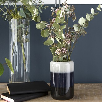 Broste - vase céramique tie and dye gris/bleu d10xh16cm
