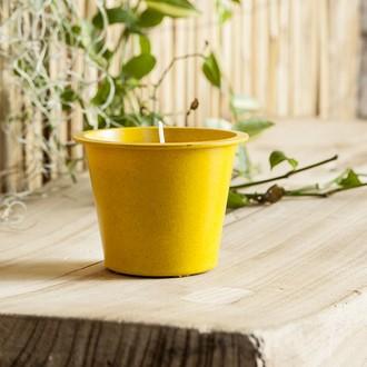 BOUGIES LA FRANCAISE - Pot en fibre de bambou rempli de bougie citronnelle
