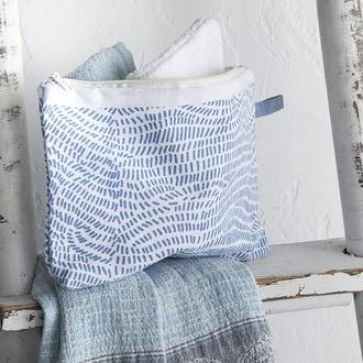 Pochette en coton imprimé grèce 18x20cm