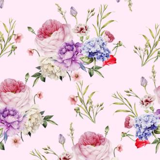 20 serviettes 33x33 cm tapisserie rose