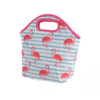 Sac isotherme flamants rose avec anses