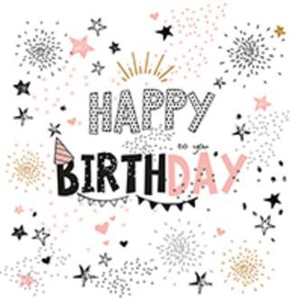20 Serviettes Girls birthday 33x33 cm