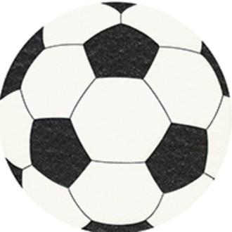 12 Serviettes Ballon de foot diam 16 cm