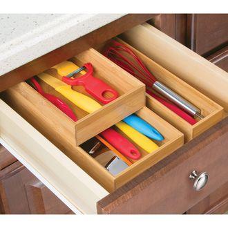 INTERDESIGN - Organiseur tiroir en bambou 30,8x15,2x5,1 cm