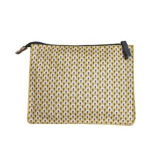ZODIO - Trousse de toilette en coton enduit jaune petites écailles - La voyageuse - 25x9x19cm