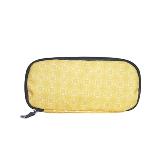 ZODIO - Trousse de toilette en coton enduit jaune carreaux - La baroudeuse coquette - 21x8x10.5cm