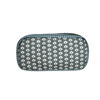 ZODIO - Trousse de toilette en coton enduit tempête petites écailles - La baroudeuse coquette - 21x8x10.5cm