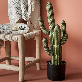 Cactus artificiel en pot h60cm