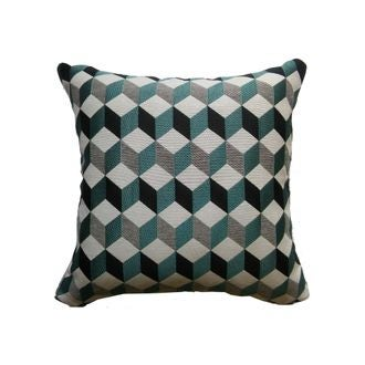 Coussin gustave turquoise 40x40cm