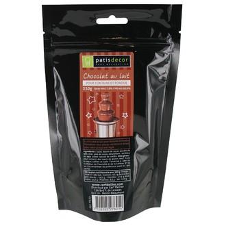 PATISDECOR - Chocolat au lait pour fondue - sachet de 250g