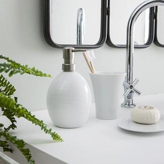 Porte savon en porcelaine blanche oxford