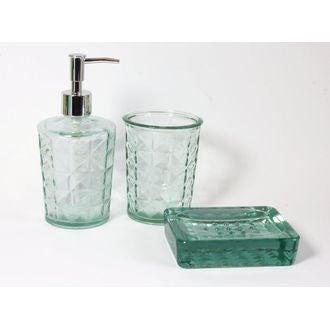 Porte savon en verre transparent Gems