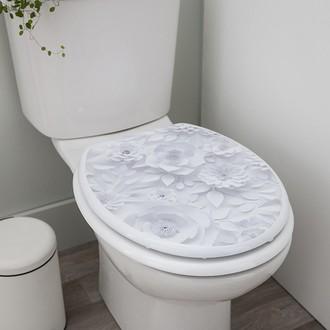 Abattant de toilette en mdf imprimé et charnières inox Origami