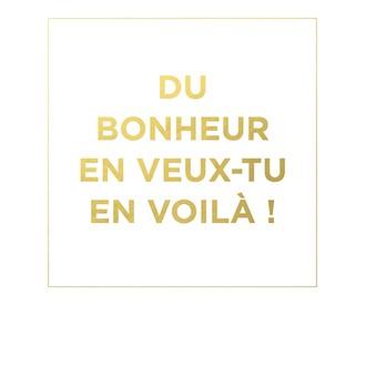 Carte pola colorchic du bonheur 10x12cm texte doré