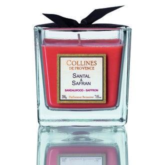 Bougie parf santal-safran 200g