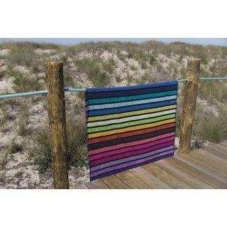 Serviette de plage à rayures multicolores Bondi 100x180cm
