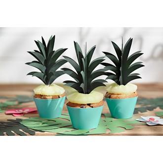 Caissettes à cupcakes aloha bleu 6 pièces