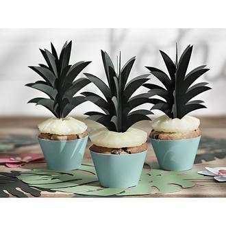 Décors à piquer feuilles ananas 6 pièces